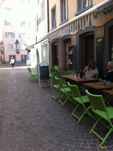 Our afternoon cafe on a quiet side street