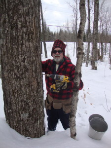 Frank gets ready to tap his maple trees!