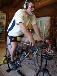 Frank trains on his bike dreaming of warm days