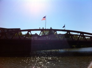The lift bridge at Fairport