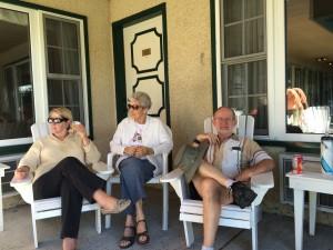 Relaxing at the Gananoque Inn