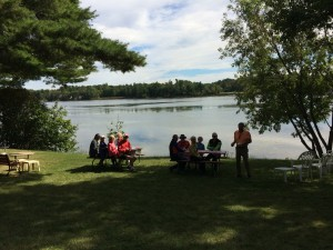 Lunch at Landon Bay .... Thanks Jim and Judy