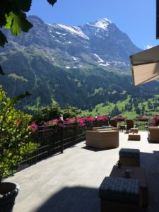 View from the verandah at the Hotel Belvedere in Grindelwald